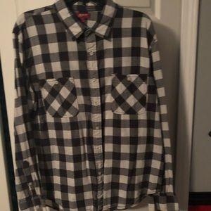 Thin flannel button down